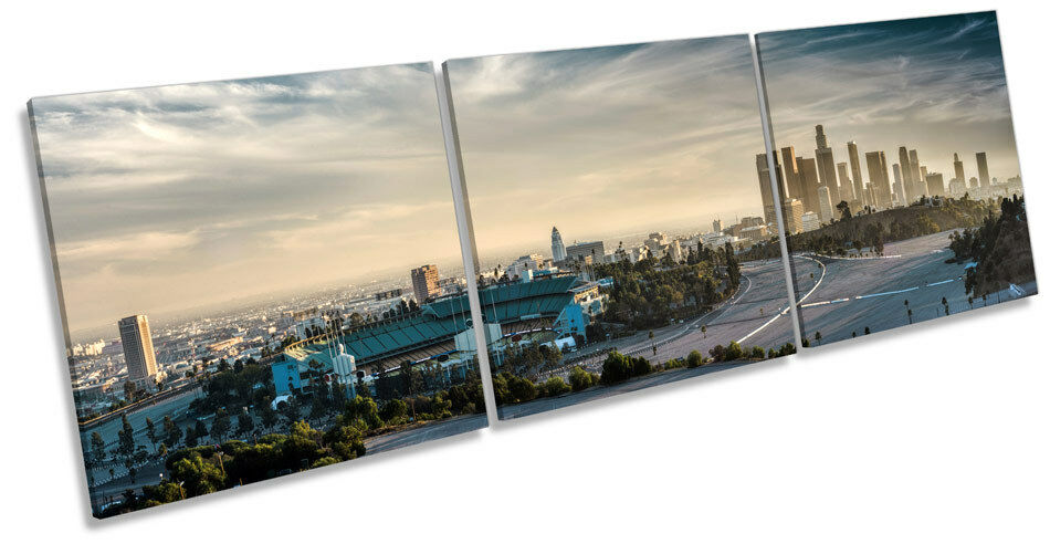 Città di Los Angeles Skyline Skyline Skyline TREBLE TELA Wall Art Box Frame stampa c7ab79