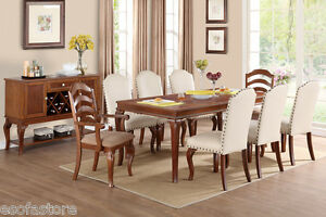 Formal 9 piece dining set dining room arm side chair table for 9 piece formal dining room sets