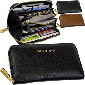 VALENTINO-Damen-Geldboerse-Leder-Portemonnaie-Geldbeutel-Brieftasche-Geldtasche