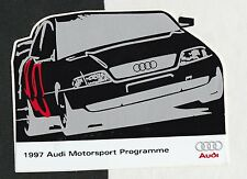 1997 AUDI MOTORSPORT PROGRAMME A4 QUATTRO TOURING ORIGINAL PERIOD RACING STICKER