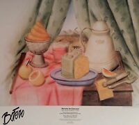 Botero In Chicago Poster 1994 25 X 28 Still Life With Ice Cream Rolled