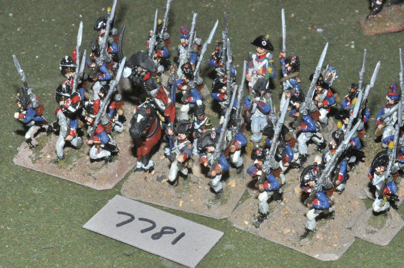 25mm napoleónicas Francés-Guerra Revolucionaria infantería 32 higos Metal-INF (7781)
