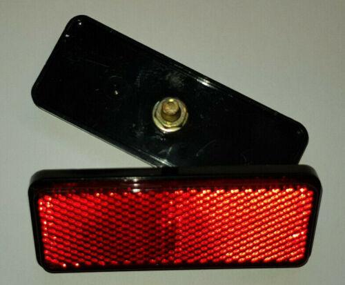Reflektor 89x35 mm rot mit Bolzen M5 E-geprüft Rückstrahler Katzenauge Motorrad