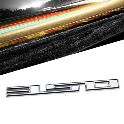 Chrome 350 Cu Sign Logo Number Car Badge Emblem Polished Decal Plate 3M Sticker