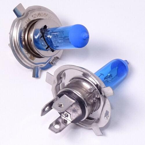 2 x H4 55w White Xenon Main Beam Bulbs To Fit Suzuki Swift MK2