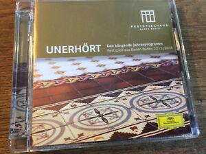 Unerhört [CD Album] Festspielhaus Baden-Baden 2013/14 Lescaut Rattle Thielemann - Baden-Baden, Deutschland - Unerhört [CD Album] Festspielhaus Baden-Baden 2013/14 Lescaut Rattle Thielemann - Baden-Baden, Deutschland