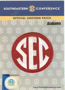 Alabama sec conference jersey uniform patch 100 official Alabama sec championship shirt