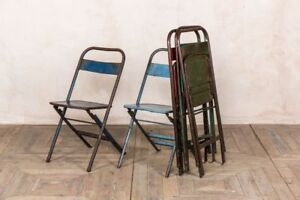 Image Is Loading Vintage Outdoor Metal Chairs Collapsible Garden Chair Easy