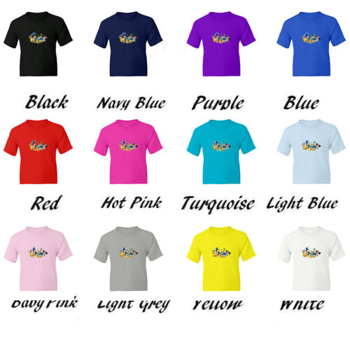 Super Mario Koopa Bosses Kids Girls Boys Youth Funny Unisex Crew Neck T-Shirt