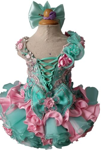 Infant//toddler//kids//baby// Girl/'s Pageant//prom Dress from size9-12  to  size5T