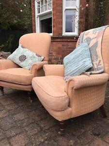 Fabulous pair of Sofa workshop Highback chairs (similar ...