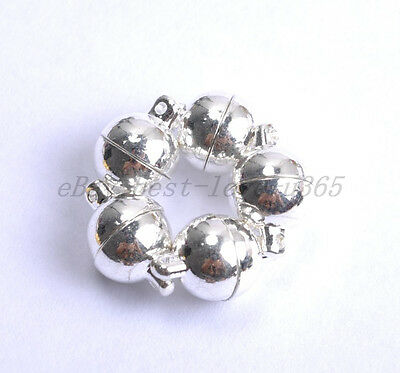 10Sets Silver Golden Two Parts Powerful Magnetic Round Clasps Jewelry Findings