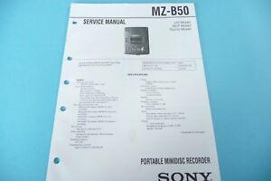 original!! Sinnvoll Service Manual-anleitung Für Sony Mz-b50 BüGeln Nicht