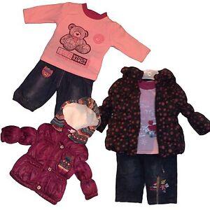 Bebe-fille-hiver-3-Pieces-Outfit-Veste-Matelassee-Pantalon-Pantalons-De-Jogging-Top-Set