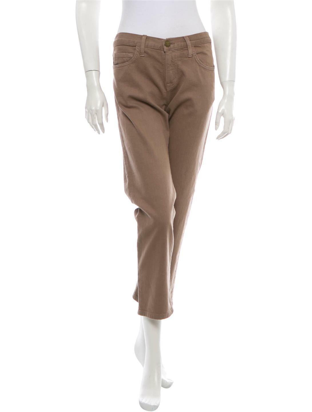 Current Elliott The Boyfriend Mid-Rise Brown Ankle Jeans Size 23 NWT