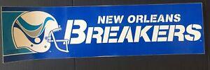 Defunct USFL New Orleans Breakers Bumper Sticker🏈