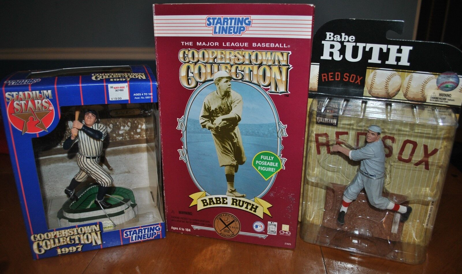 BABE RUTH ACTION FIGURE DEAL RED SOX YANKEES McFARLANE & KENNER STARTING LINEUP