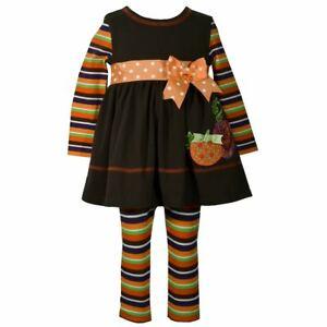 2ed8e9b1b003 Bonnie Jean Pumpkin Dress   Striped Leggings Set - Size 3T - NEW NWT ...