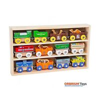 Orbrium Toys 12 Pcs Wooden Engines & Train Cars Collection With... Free Shipping