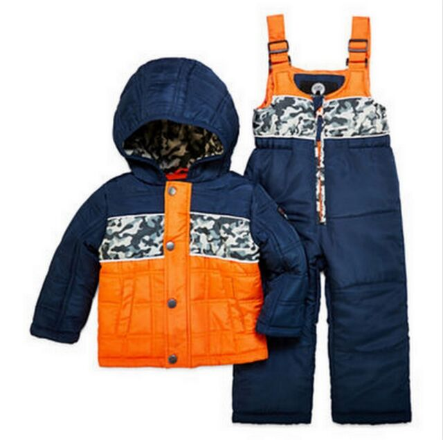 Infants, Toddler /& Little Boys Wippette Little Boys 2-Piece Heavyweight Snowsuit with Puffer Jacket and Snow Bib Pants