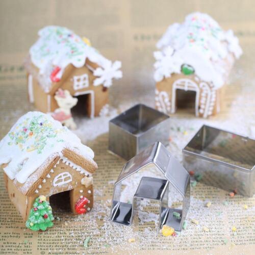 Christmas Gingerbread House Mini DIY Cookie Mould Set Biscuit Mold de254