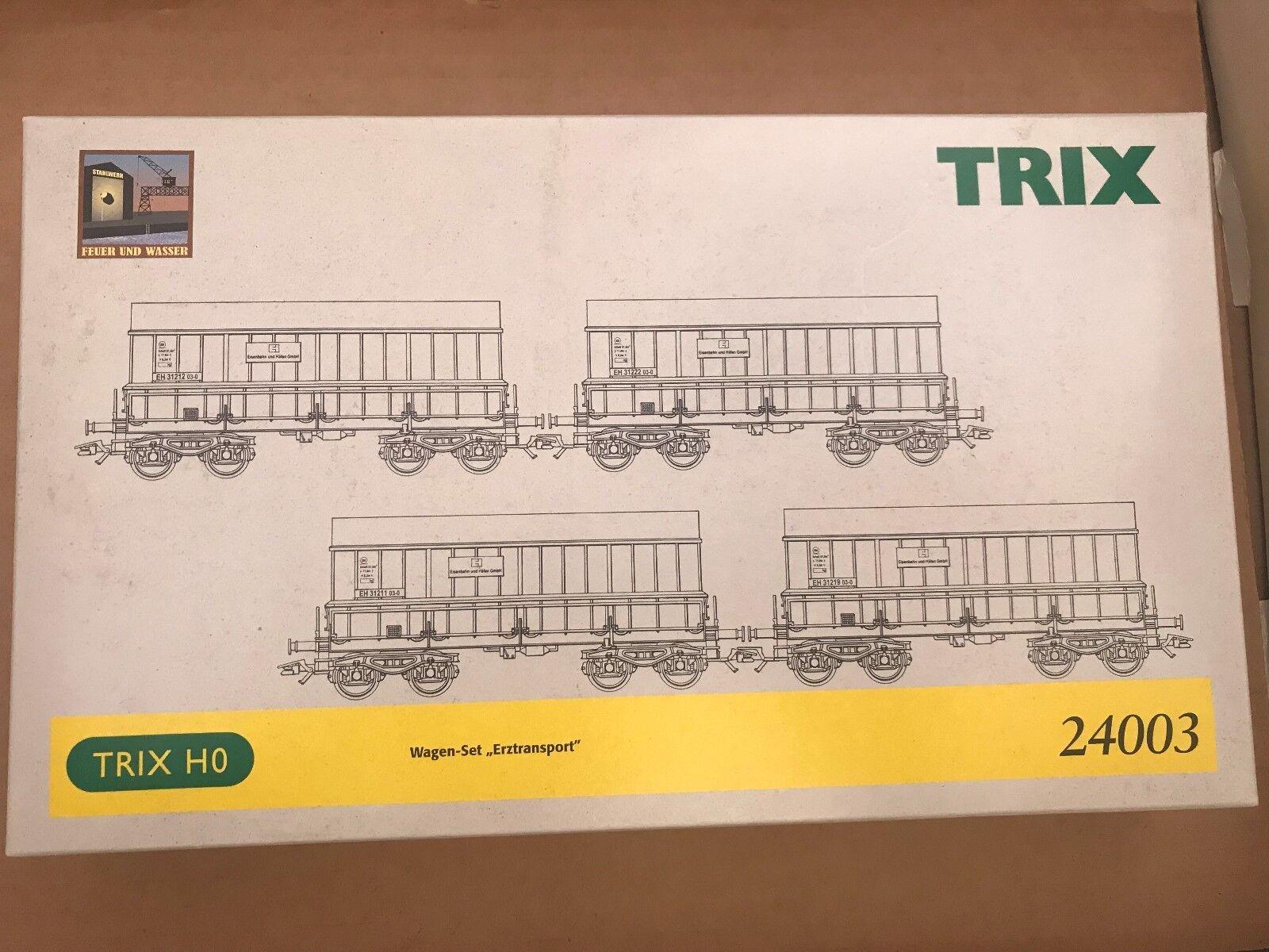 Trix Trix Trix 24003-SOS 2002, 'fuoco e acqua' , il minerale-trasporto, 4 carri NUOVO + OVP db9a2f