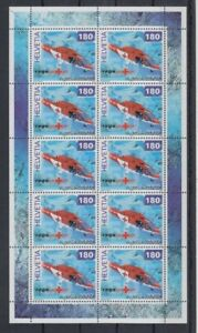 Suisse-1784-Helicoptere-Hologramme-Feuilles-Miniature-MNH