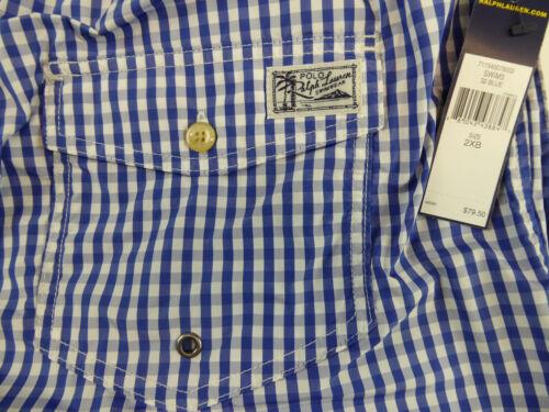 Polo Ralph Lauren Gingham Plaid Traveler Swim Wear Trunks Shorts $69-79 Pony NWT