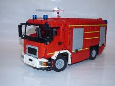 Bauanleitung instruction Feuerwehr TLF MAN Unikat Eigenbau Moc Lego Technic