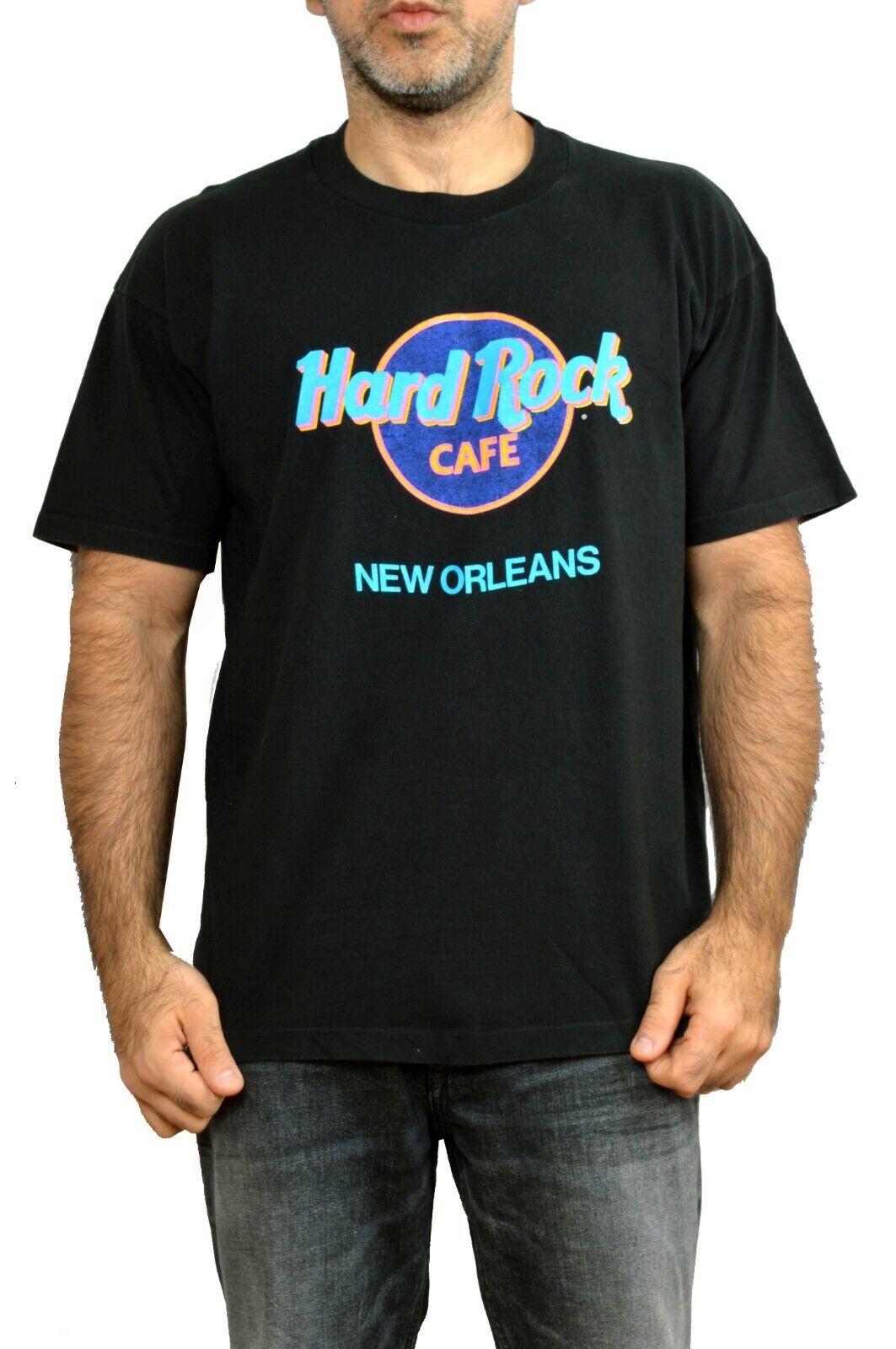 Hard Rock Cafe NEW ORLEANS T shirt NERO RARO Made in USA classico logo in buonissima condizione