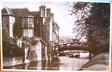 UK RPPC CAMBRIDGE Queen's College from River England Pelham Postcard 8391 Matte