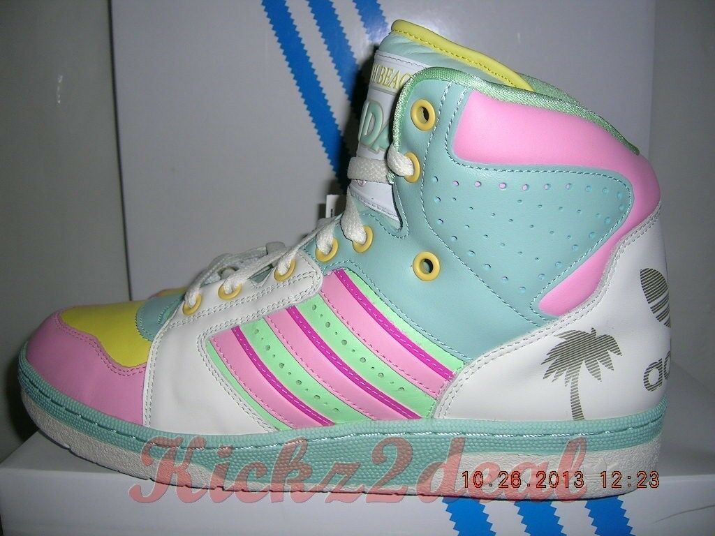 Nuove adidas js targa miami, south beach uomini sz 10 g95772 jeremy scott obyo