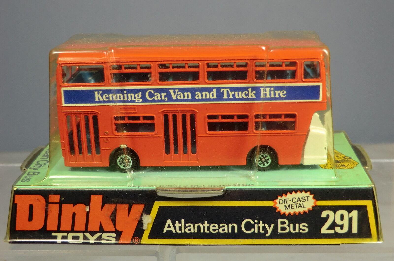 DINKY TOYS No.291 ATLANTEAN CITY BUS  'KENNING'   WHITE ENGINE COVER   MIB