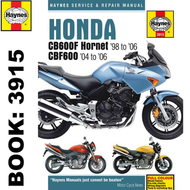 haynes workshop manual for honda cb600 hornet cbf600 ebay rh ebay co uk honda hornet manual 2007 honda hornet manual pdf
