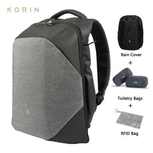 Korin ClickPack Pro Anti-theft Backpack for 15.6in Laptop,with USB Port/&TSA Lock