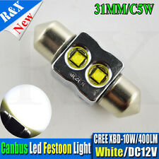 1xCanbus White LED Bulbs 31mm Festoon 10W Car interior Dome Map Lights 400LM 12V