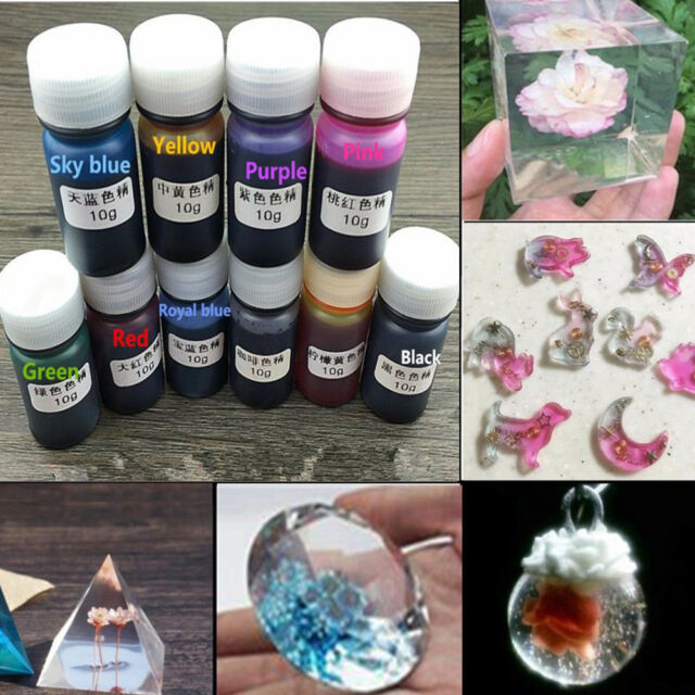 8 Colors 10g epoxy UV resin dye colorant resin pigment mix color DIY art craft G