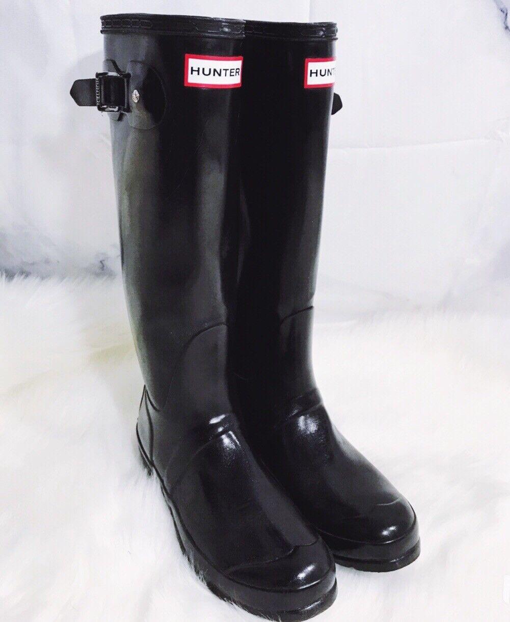 Hunter Original Tall Mujer Hasta Hasta Hasta la Rodilla Alta De Goma Para Lluvia botas Tamaño 7 c8fbca