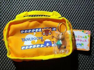 Vintage Nintendo Animal Crossing TOM NOOK ZIPPER POUCH BAG + KEYCHAIN LOT RARE