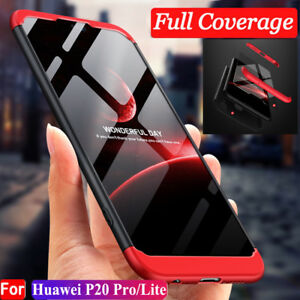 design senza tempo 9f581 59e96 Details about For Huawei P20 Pro/Lite 360° Full Protective Hybrid Case +  Tempered Glass Cover