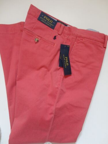 NWT Polo Ralph Lauren Stretch Straight Fit Nantucket RED Flat Front Pant