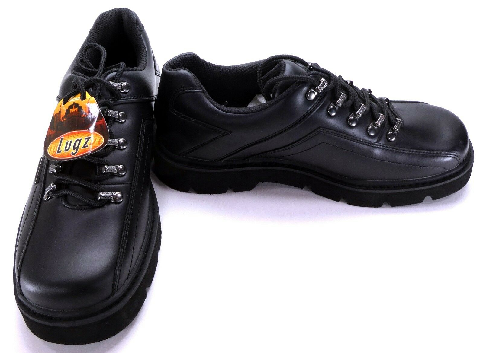 Lugz Shoes Turnaround Athletic Leather Black Sneakers Size 9