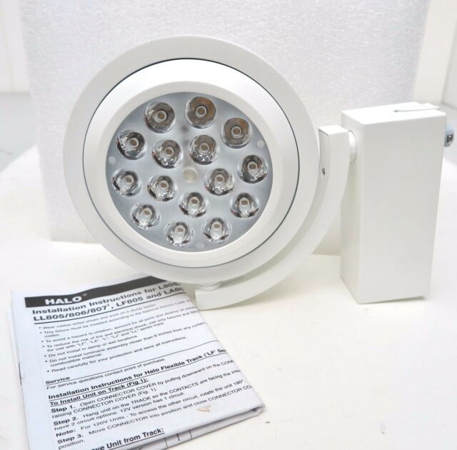 NEW Cooper Lighting HALO 806 L806HO LED Track Light Fixture L806HOSP8030  WHITE