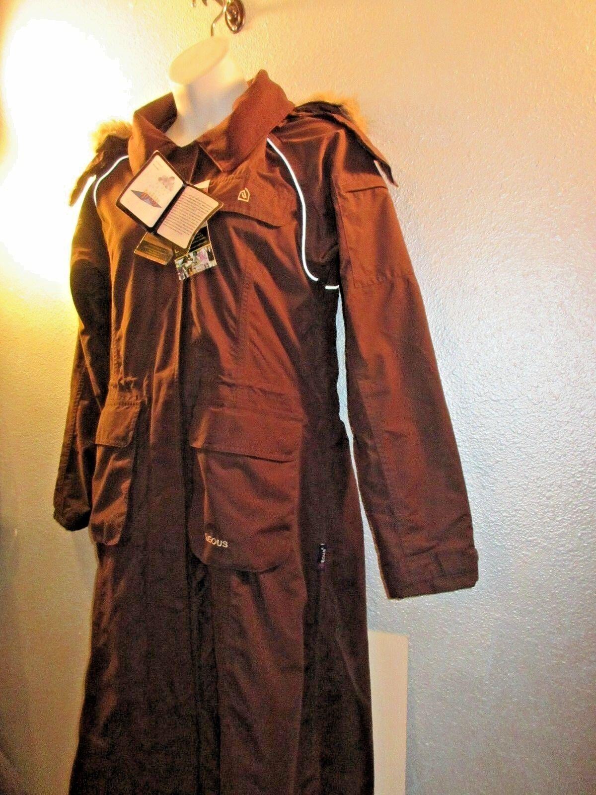 Equisupplies  eous  Riders Gabardina Abrigo marrón nuevo con etiquetas Capucha Desmontable Plus SZ XXL  +