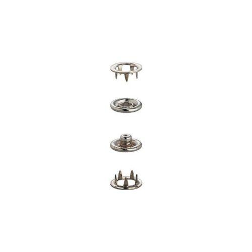 9.5mm Silber Nickelfrei Druckknopf Nieten Druckknöpfe Druckknopf für Hemd Jeans