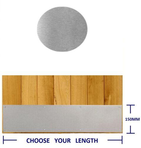 KICK PLATE SATIN STAINLESS STEEL KICKPLATE /& SCREWS TIMBER DOOR DRILLED /& CSK
