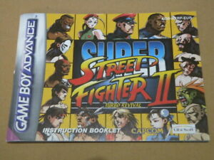 Nintendo-Game-Boy-Advance-Manual-SUPER-STREET-FIGHTER-II-2-Manual-ONLY
