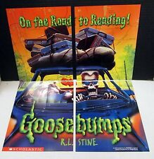1996 Goosebump Monster Promo Trading Card Set UNCUT convert into poster RL Stine