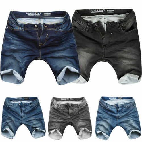 Sweat Denim Shorts kurze Hose Herren Short Sommer Bermuda Urban Sublevel