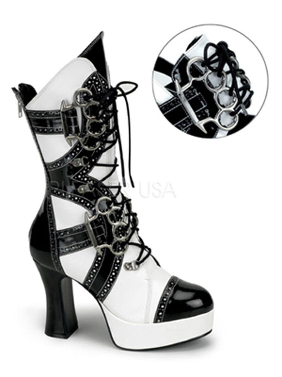 Sexy rocker novia Gogo botas carnaval blancoo